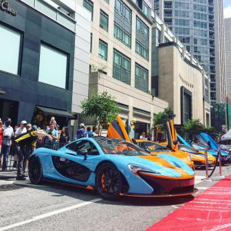 McLaren P1 Gulf Livery Yorkville Exotic Car Show by Sharnelle Kan